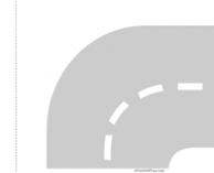 Kurve Rechts mit Schnittmarke